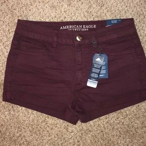 AE High Rise Shortie shorts size 8